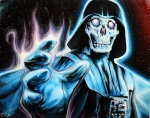 skull darth star wars painting