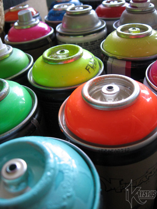 cans close up